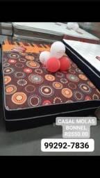 Título do anúncio: CAMA!!! MOLAS BONNEL CASAL FRETE GRÁTIS HOJE MESMO