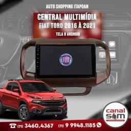 Título do anúncio: Central Multimídia Android Fiat Toro 2016 à 2021 9 Polegadas Instalada na Canal Som