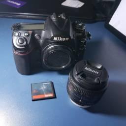 Camera Nikon D300 + 50mm 1.8d + bolsa + cartão