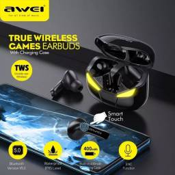 Fone Bluetooth Gamer Awei T-35 Tws Com Controle Touch S/fio