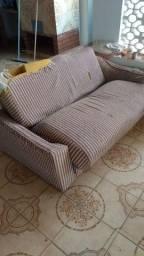 Sofá cama 155cm x 93cm - estrutura para reformar (usado - leia a descrição)
