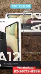 Samsung  A12 novo na caixa lacrada 64gb aceito cartão *