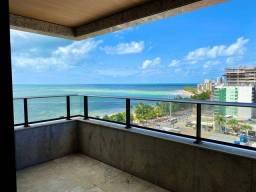 Apartamento com 157m2 com vista do Mar da Ponta Verde, completo de armários