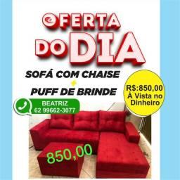 Título do anúncio: Sofá com CHAISE vermelho da fábrica