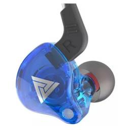 Fone In Ear QKz AK6 - Azul (C/ Microfone)