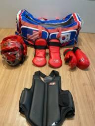 Kit protetores taekwondo