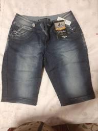 Título do anúncio: Bermuda Jeans com elestano