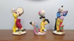 Trio de palhaços decorativos