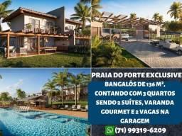 Título do anúncio: Praia do Forte Exclusive, bangalôs em 136m², 3 quartos sendo 2 suítes - Espetacular