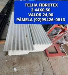 Título do anúncio: TELHA FIBROTEX 2,44X0,50 VALOR 24,00 somos de Manaus