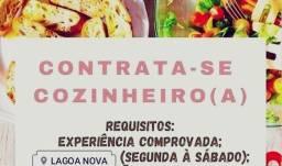 Título do anúncio: Cozinheiro ou cozinheira com experiência
