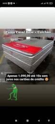 Título do anúncio: Cama!? Base+ colchão molas+ pillow top Fusion LIQUIDAÇÃO DE CAMA