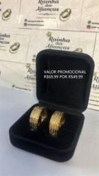 Alianças de Aço inox Douradas a pronta entrega *valor promocional*
