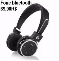Fone Bluetooth sd card e fm