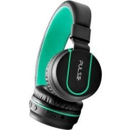 Fone De Ouvido Com Bluetooth Pulse Ph215 Preto/Verde