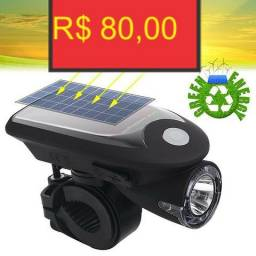 Farol led para bike recarregavel energia solar