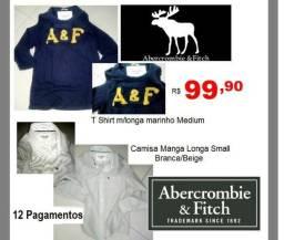 Camisa e Camiseta Abercrombie R$ 99,90