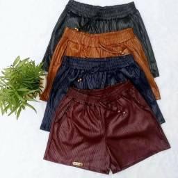 Shorts em Cirré Canelado