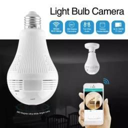 Lâmpada com câmera Wifi monitorada por celular