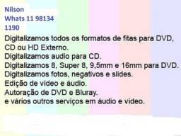 Conversãoo Fitas Vhs c - Hi8 - Video 8 pra dvd