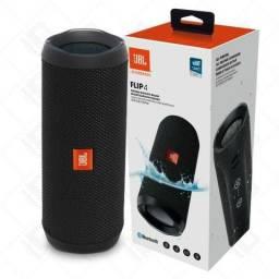 Caixa de Som Portátil JBL Flip 4 Bluetooth Preta Prova Dagua Original