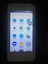 "Smartphone Multilaser MS45S 4G Quad Core Android 7.0 Cam 5/8Mp 8GB 4,5"" Dourado/Branco"