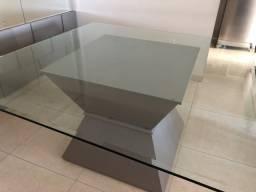 Mesa de vidro quadrada