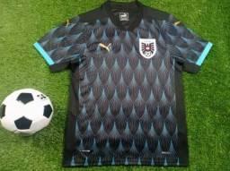 Camisa Oficial Puma Áustria 2019-2020 Preta