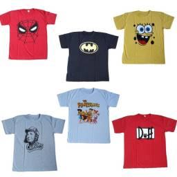 Camisetas por atacado R$13