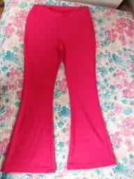 Calça flare rosa pink veste M/G malha grossa leia a descrição