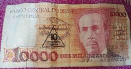 Nota de 10000 cruzados (dez mil cruzados) com carimbo, intacta
