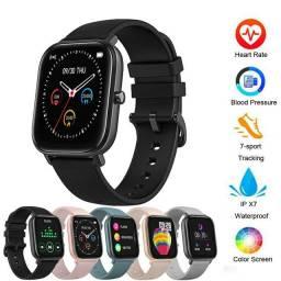 Relógio inteligente smartwatch colmi p8 carregador base magnético película grátis