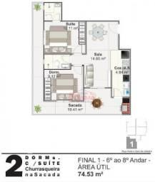 Apartamento com 01 dormitório na Vila Mirim, Praia Grande