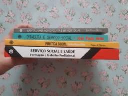 Itens de papelaria e livros