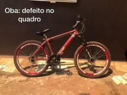 Bike aro 26 vmax defeito no quadro freio a disco cpu da cce top pega ff