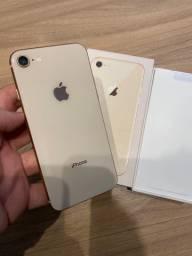 IPhone 8 64gb dourado! Sem detalhe! Zero