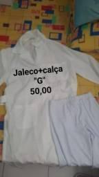 Jaleco+ calça branca