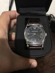 Relógio Armani genuine leather AR0263