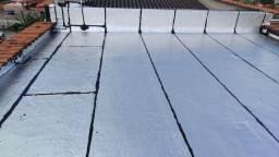 Aplicaçao de manta asfaltica poliéster