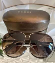 Oculos Gucci em couro