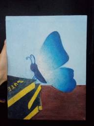 Título do anúncio: Quadro A Borboleta Azul
