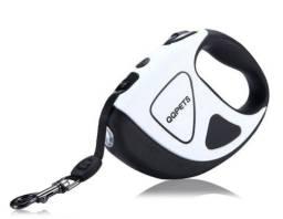 Título do anúncio: Guia Premium Retrátil Pet Automática Cães 5mts Lanterna Led