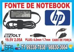 Título do anúncio: Carregador Hp Mini 19.5V 2.05A 40w Plug Preto 4.0mm x 1.7mm em Salvador Ba
