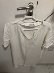 Título do anúncio: Blusa de manga curta Branca com Bordado AD Style