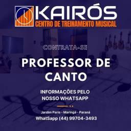 Título do anúncio: Professor de Canto