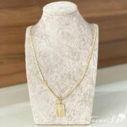 Corrente + pingente joias banhadas a ouro 18k entregamos em mãos