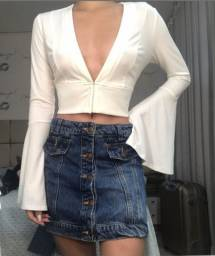 Cropped  Branco Forever 21