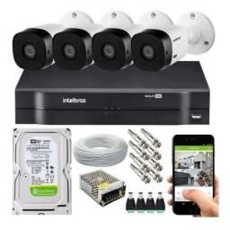 Kit cftv 4 câmeras de segurança
