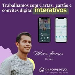 Título do anúncio:  Cartaz, Cartão e Convites digital