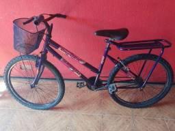 Título do anúncio: Bicicleta big feminina aro 24 lilas
